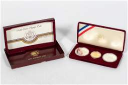 1984 Los Angeles Olympic Gold  Silver Proof Set