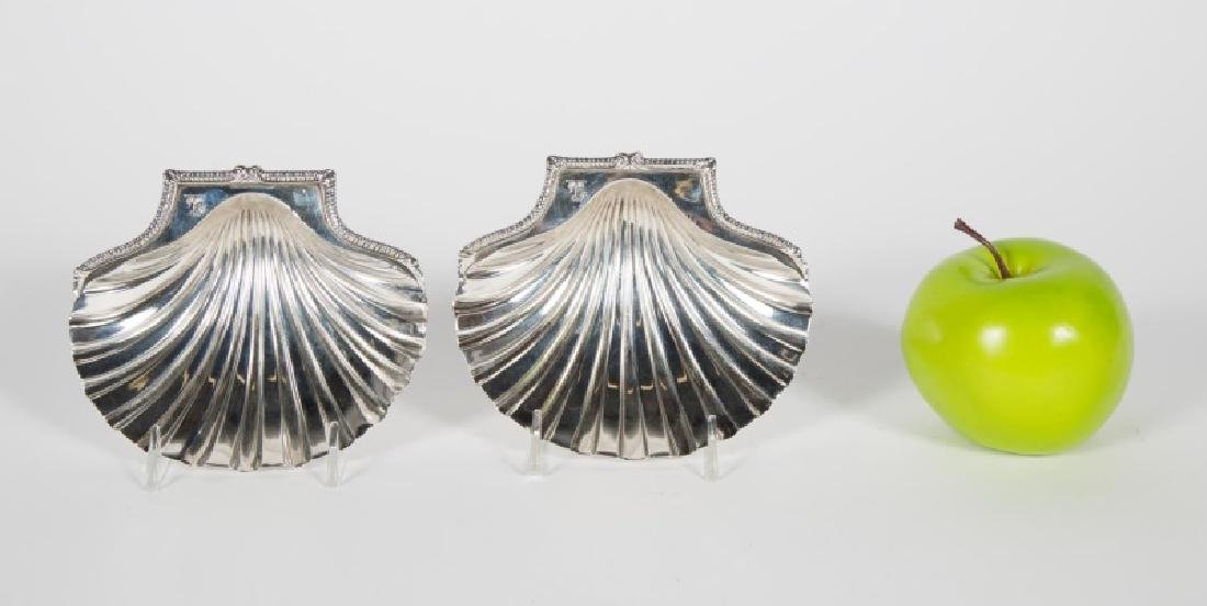 Pair George III Sterling Silver Butter Shells
