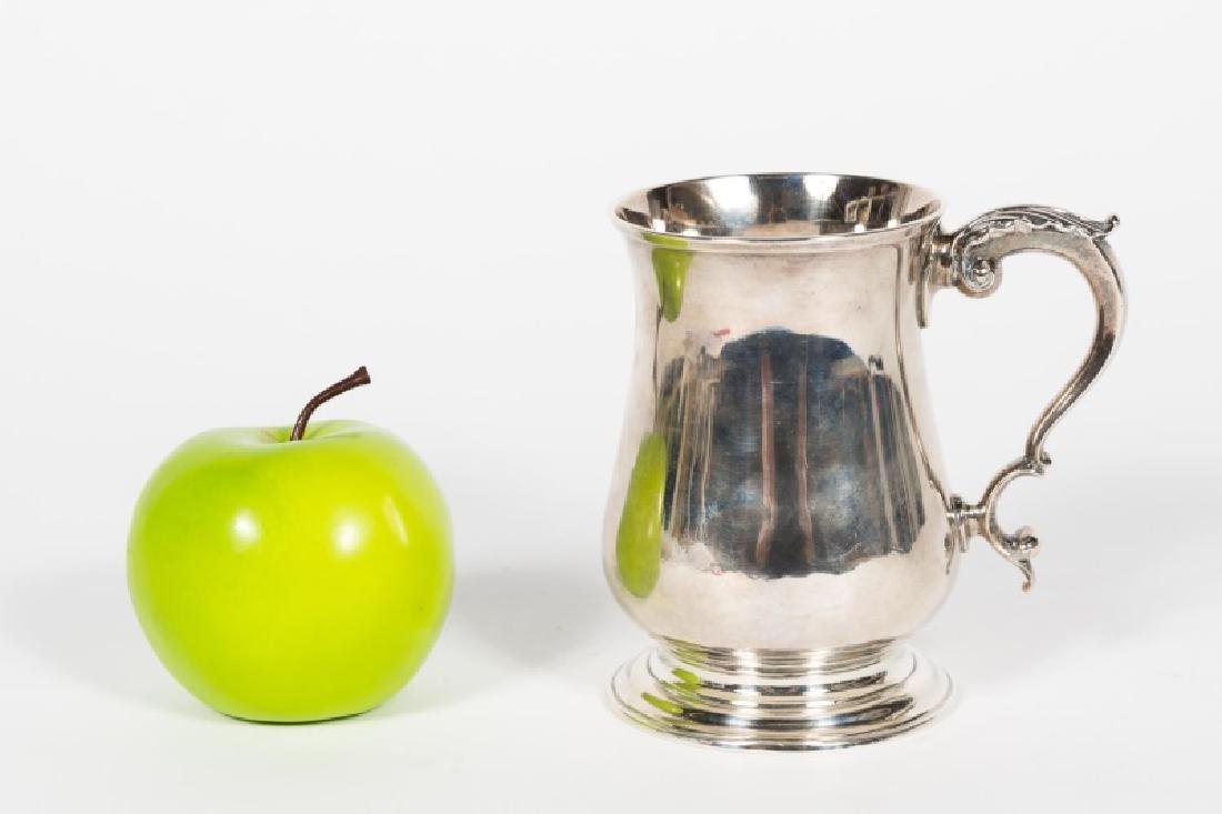 18th C. English Georgian Silver Cann/ Mug