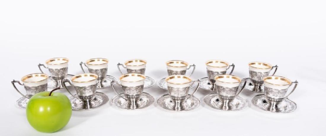 36 PCS, Lenox Sterling Silver Demitasse Set