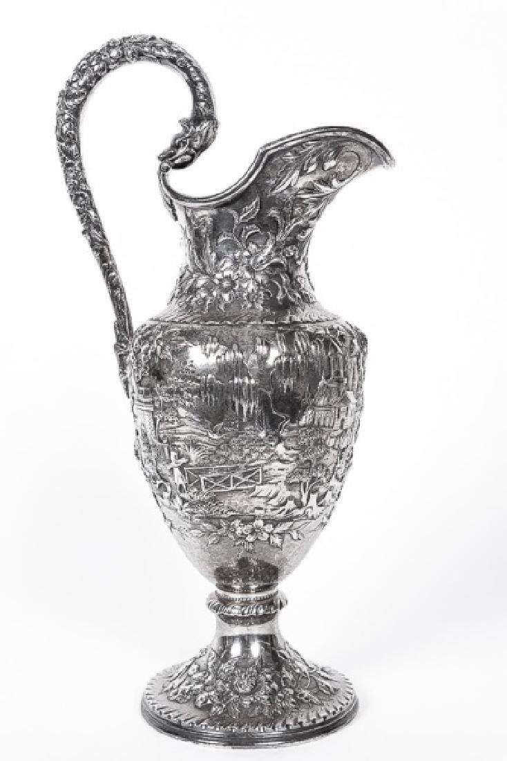Kirk & Son Repousse Sterling Silver Pitcher