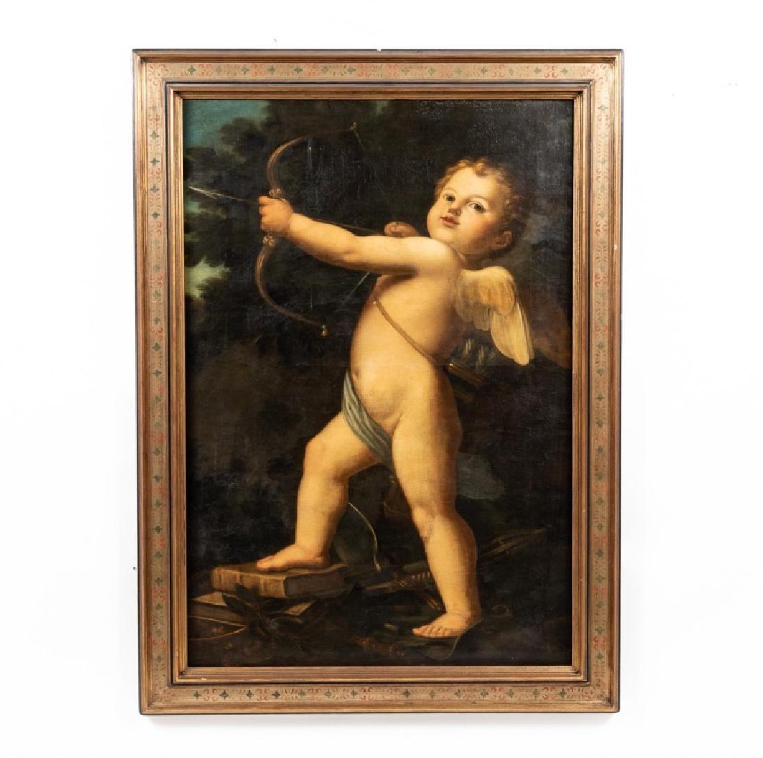 Oil on Canvas, Continental School, Cupid