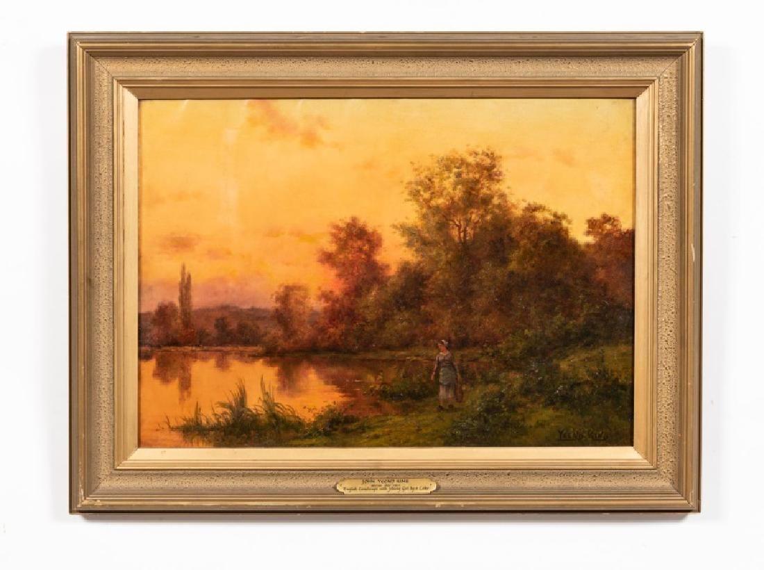 Henry John Yeend King O/C Young Girl by Lake