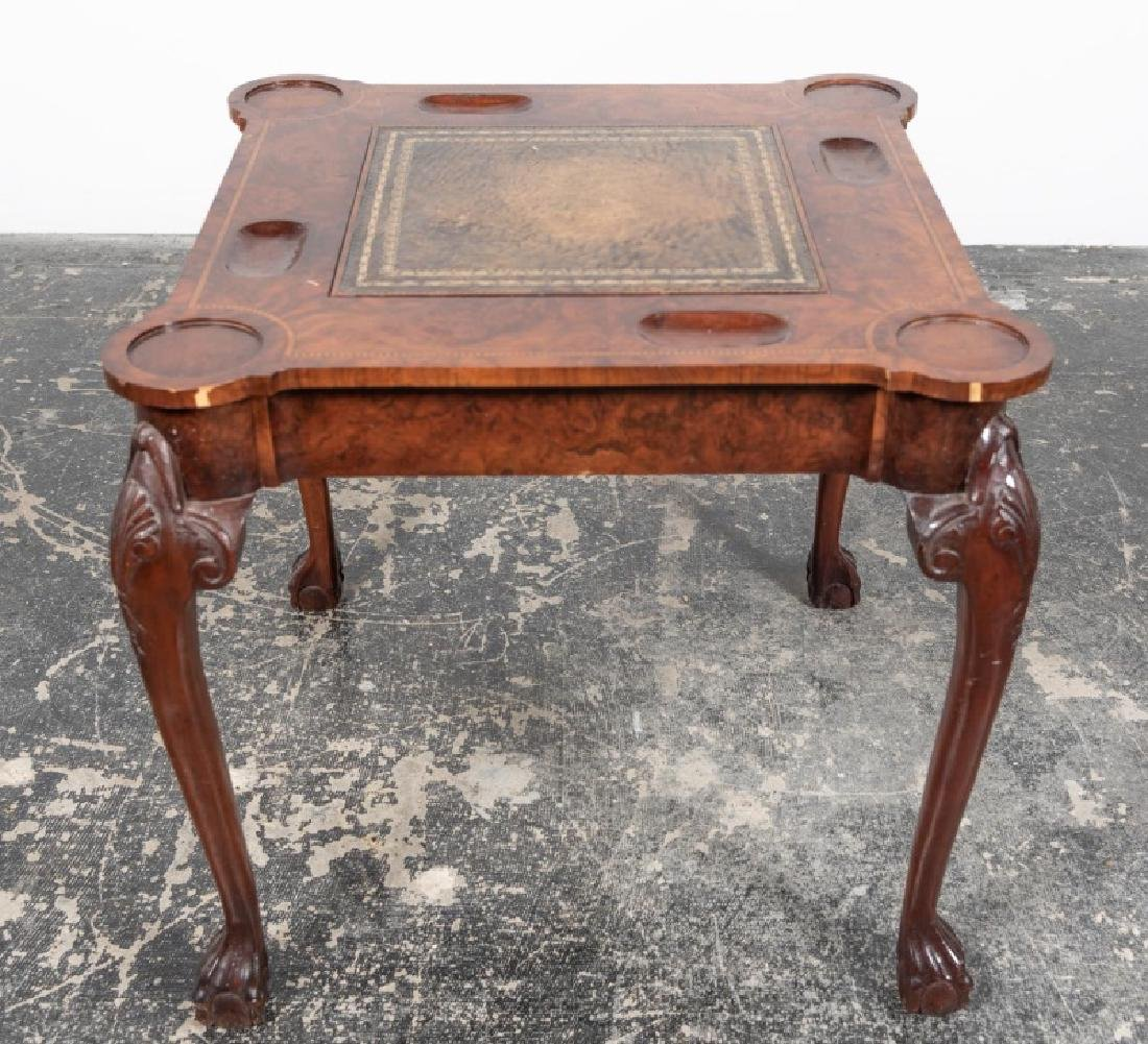 George II Style Mahogany Turret Top Games Table