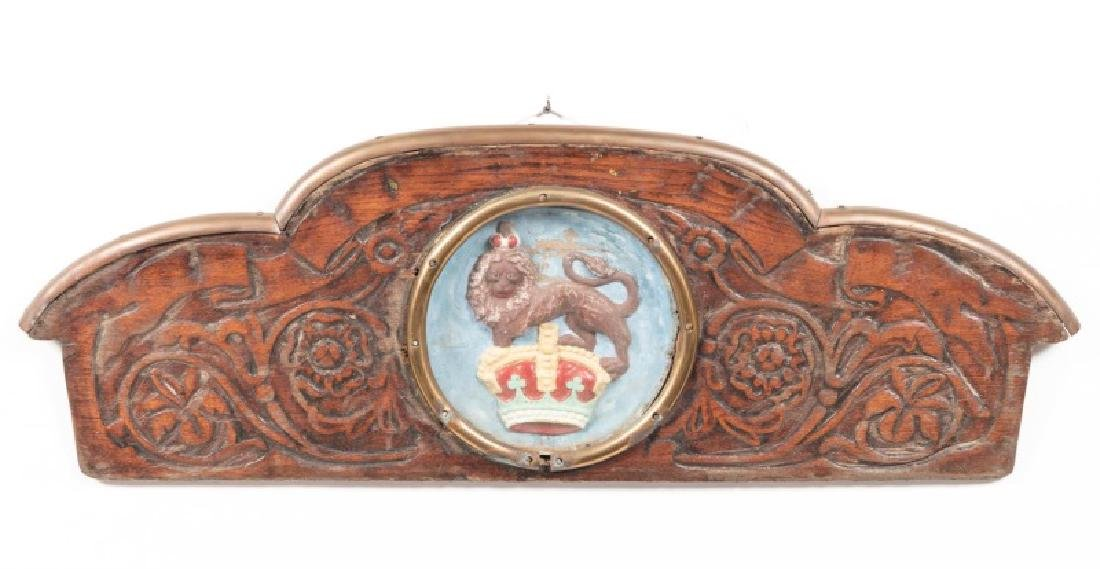 Carved English Captain's Gig Stern Panel, 18th C.