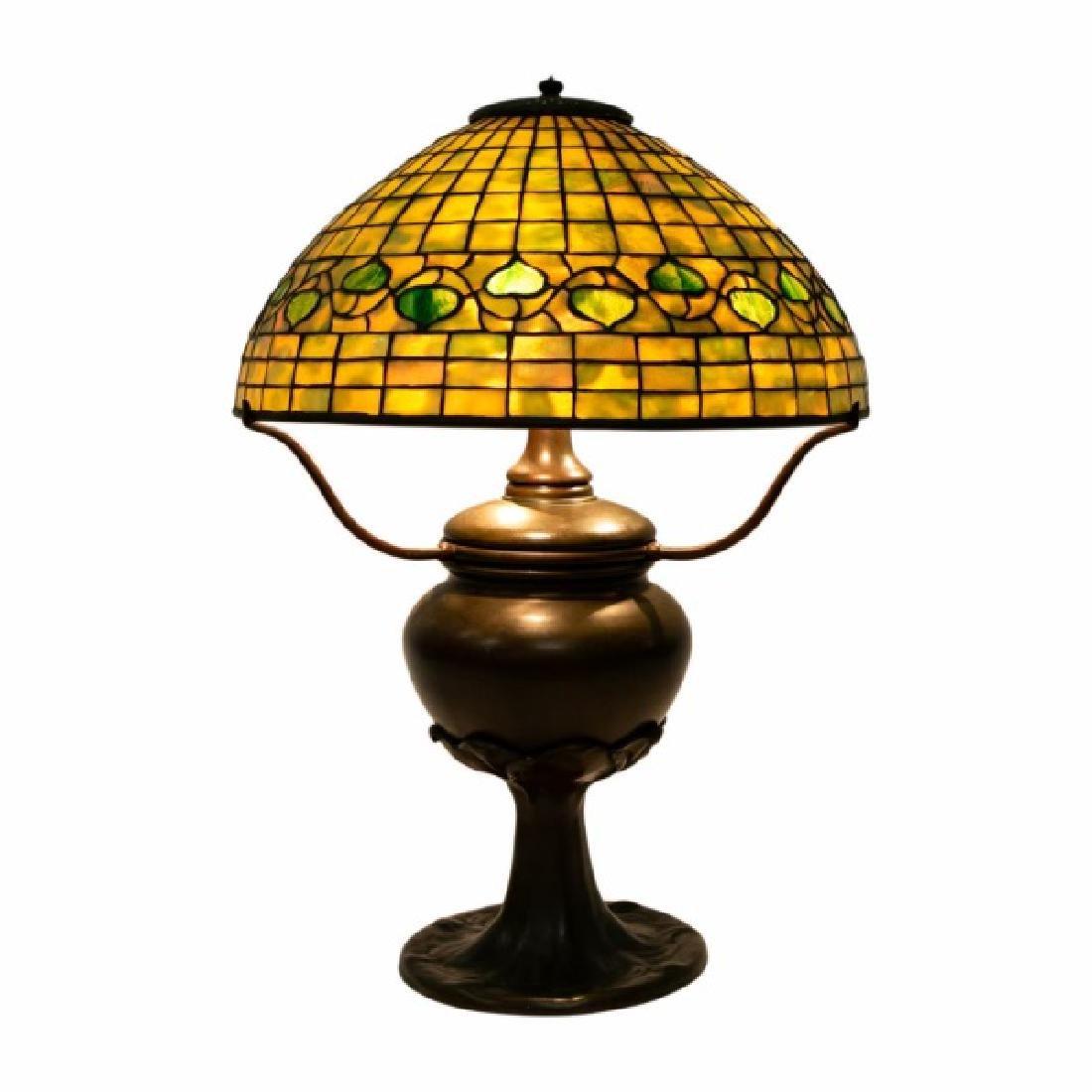 Early Tiffany Studios Acorn Table Lamp