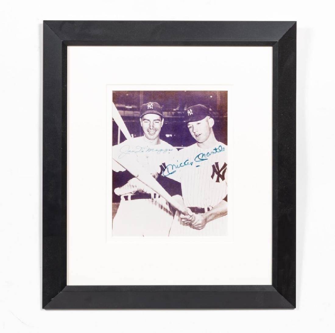 Framed DiMaggio & Mantle Autographed Photograph