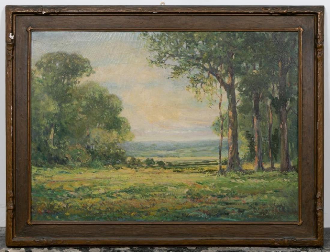 American O/C Landscape, Signed Robert Zell