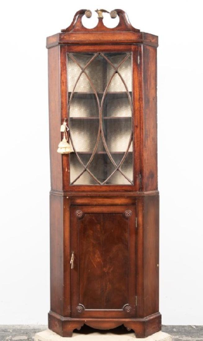 Late 19th C. Mahogany Corner Cabinet