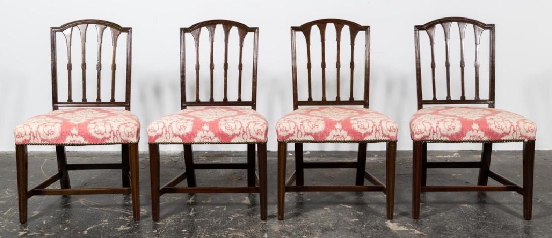 Set, 8 Hepplewhite Style Mahogany Dining Chairs