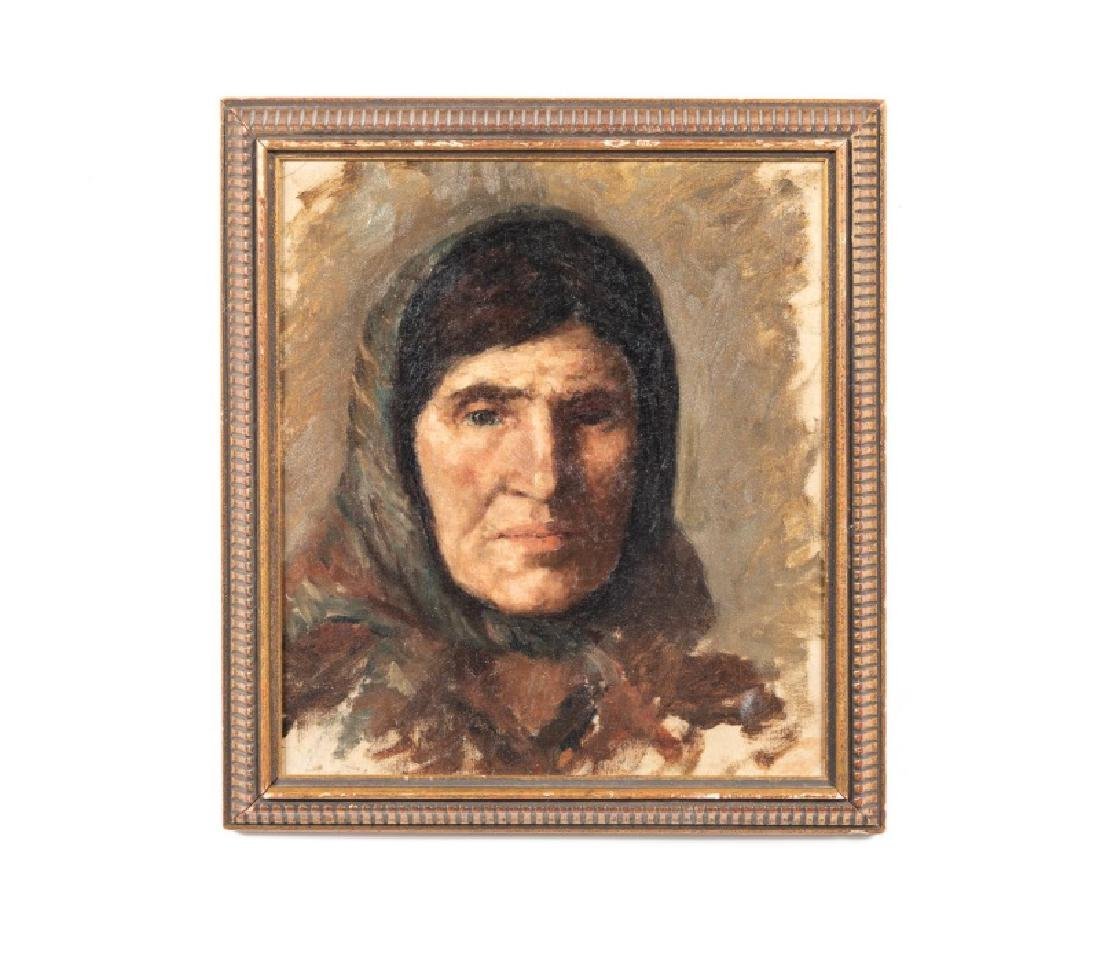 Oil on Canvas, Portrait of a Gypsy Woman