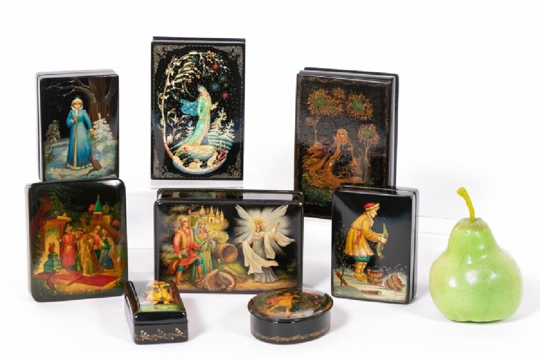 8 Russian Lacquered Boxes, Fairy Tales & Fables