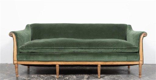Fine Italian Neoclassical Style Green Velvet Sofa Machost Co Dining Chair Design Ideas Machostcouk