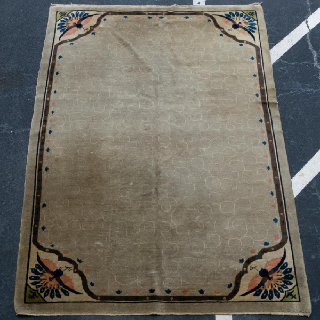 Chinese Art Deco Hand Woven Carpet, 8