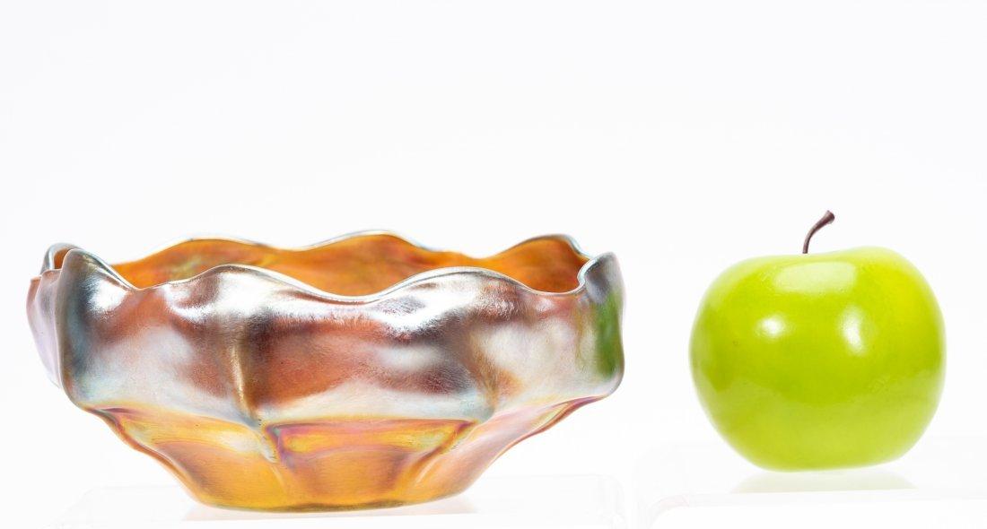 Tiffany Studios Favrile Glass Scalloped Bowl