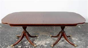 Kindel Double Pedestal Dining Table w 3 leaves