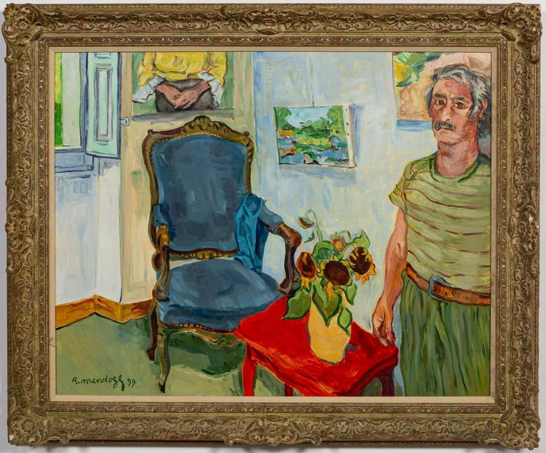 """Robert Mendoze, """"Auto Portrait a l'Atelier"""" 1999"""