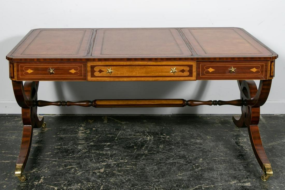 Maitland Smith Mahogany Regency Style Writing Desk