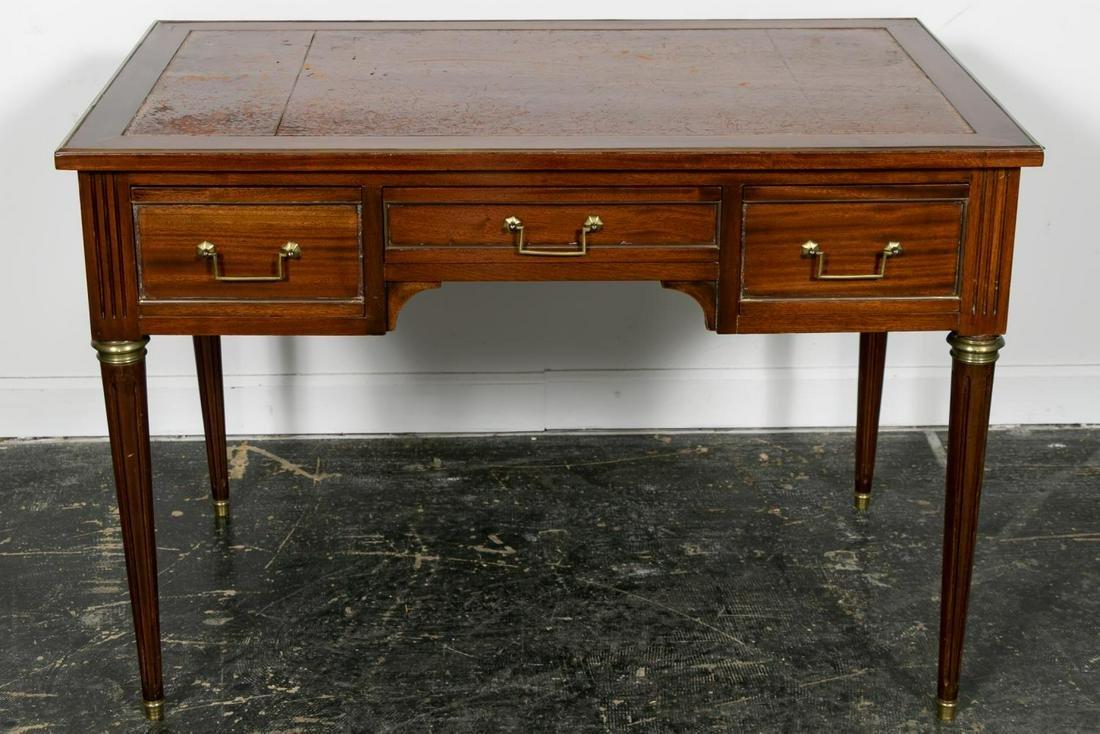 20th C. Louis XVI Style Mahogany Bureau Plat Desk