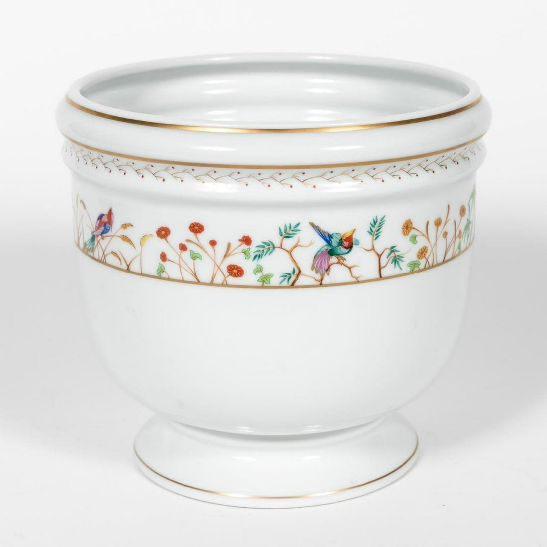 """Tiffany & Co Limoges """"Audubon"""" Porcelain Cache Pot"""