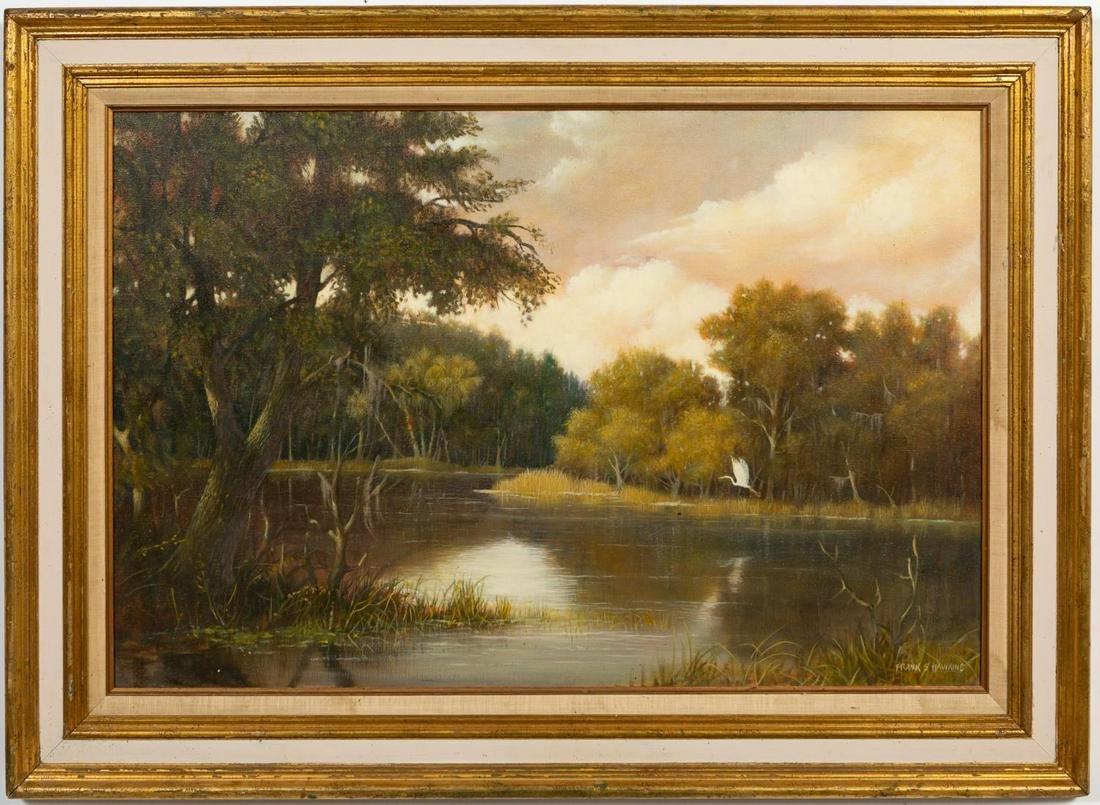 "Frank S. Hawkins, ""Chattahoochee River"" Landscape"