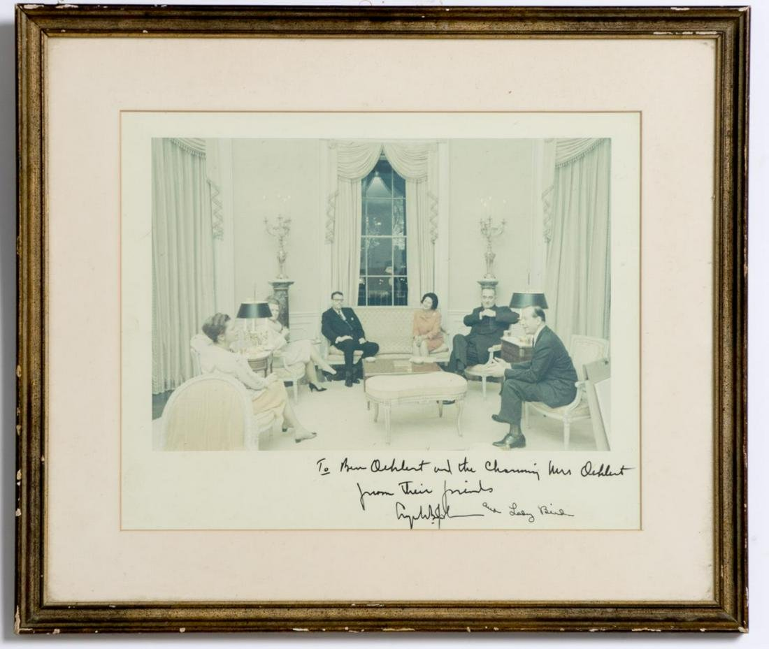 Autograph Photograph, Lyndon and Lady Bird Johnson