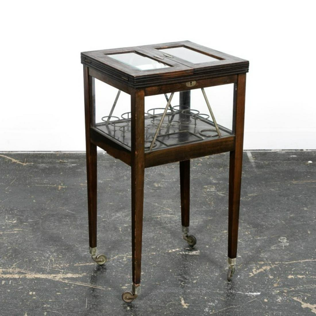 20th. C. Mahogany and Glass Tantalus Bar Table