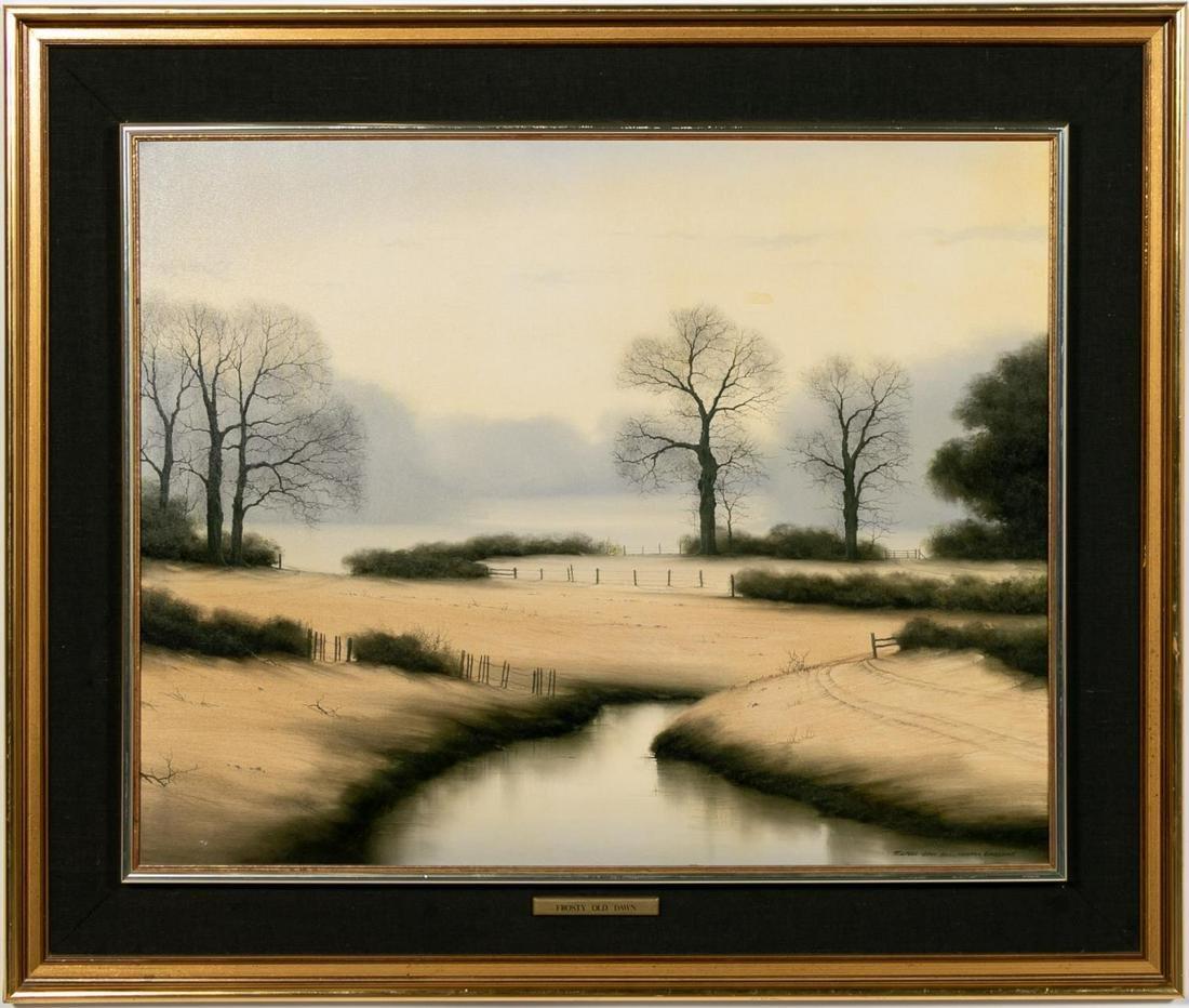 """Michael John Hill """"Frosty Old Dawn"""", Landscape"""