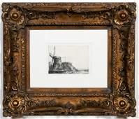 "After Rembrandt Van Rijn ""The Windmill"" Etching"