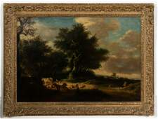 Pastoral Landscape of Cows Manner of Corot