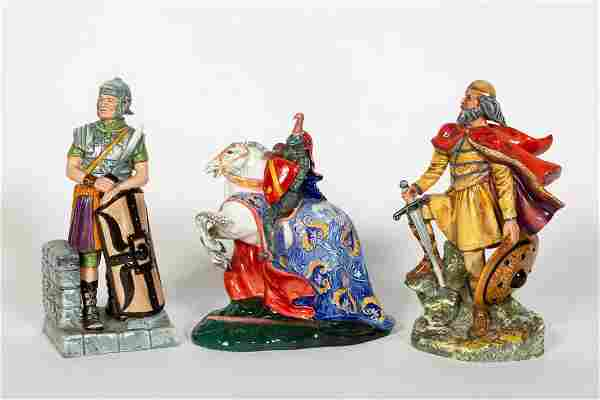 Three, Royal Doulton Figurines of Knights