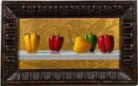 "David Hewson ""Pepper Symphony #2,"" Oil on Panel"