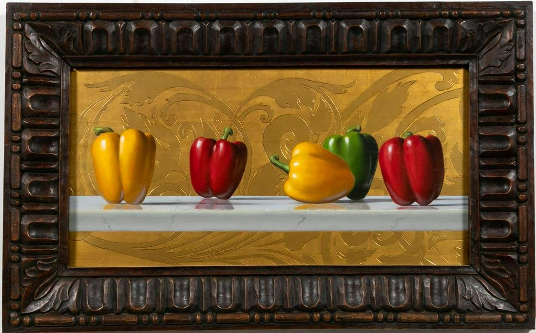 "David Hewson ""Pepper Symphony #2,"" Oil on Panel"