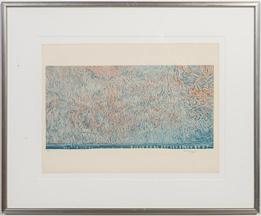 """Mark Tobey """"Scroll Of Liberty""""  Lithograph, 1973"""