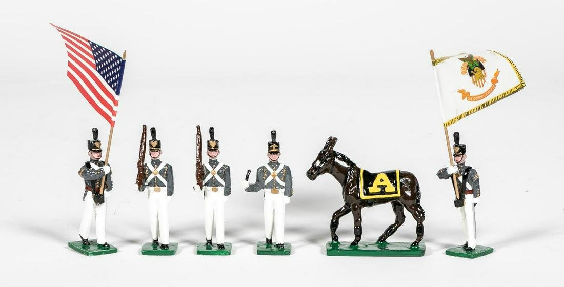 """6 Pc, Martin Ritchie """"West Point"""" Toy Soldiers"""