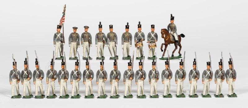 "28 Pc, Heyde ""West Point Cadets"" Toy Soldiers"