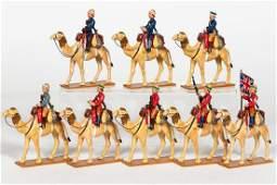 8 Pc Trophy Miniatures British Camel Corps