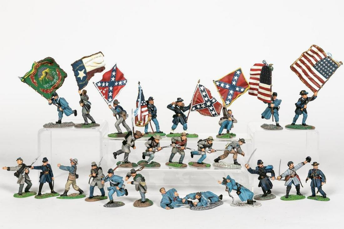 "25 Pc, Britains Hand Painted ""American Civil War"""
