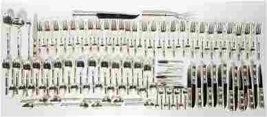 124 Pc Tiffany  Co Sterling Bamboo Flatware Set