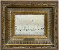 Andre Hambourg Oil On Canvas French Seascape