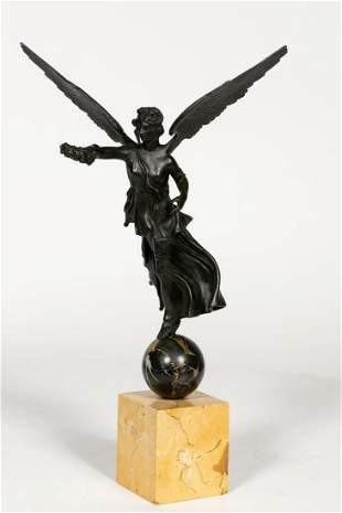 19th C. Grand Tour Bronze Winged Victory Figure