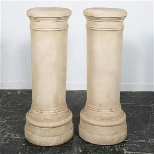 Pair, Michael Taylor Cast Stone Columns