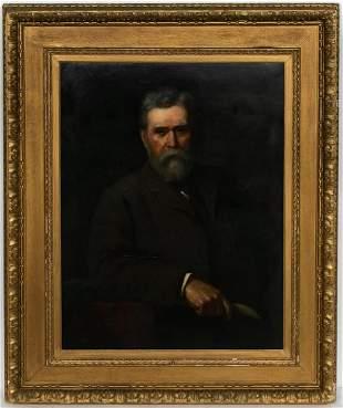 Sydney Hodges Portrait Study of A. Brown, Oil