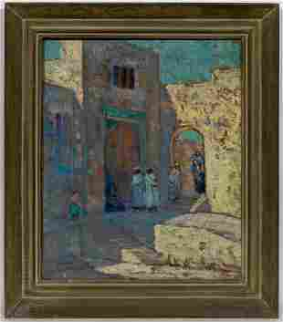 """Malcolm Humphreys """"The Casbah Tangiers"""" Oil"""