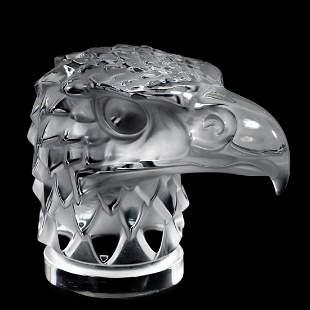 "Lalique, ""Tete D' Aigle"" Mascot Glass Paperweight"