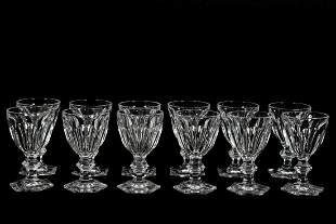 """Set, Twelve Baccarat """"Harcourt"""" Water Goblets"""