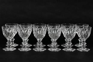 "Set, Twelve Baccarat ""Harcourt"" White Wine Stems"