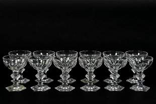 "Twelve Baccarat ""Harcourt"" Champagne Glasses"
