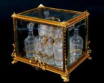 Napoleon III Gilt Bronze and Glass Cave a Liqueur