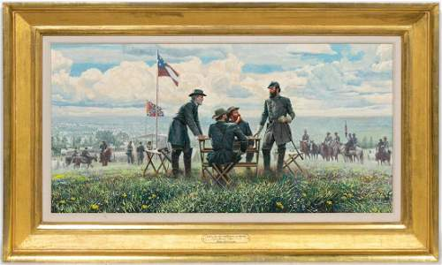 Mort Kunstler, Civil War Generals Oil On Canvas